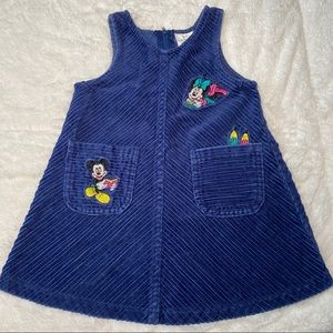 Other - Vintage Mickey and Minnie corduroy dress